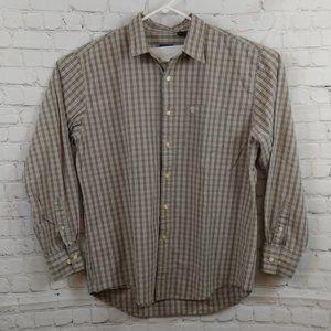 Timberland Brown Checkered Button Up Shirt L